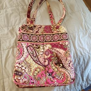 Vera Bradley Very Berry Paisley Retired Large Bag